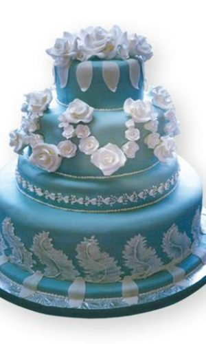 Wedgewood-Blue-wedding-cake