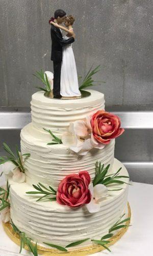 lavendar-buttercream-wedding-cake